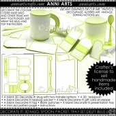 Decorate It! Blank 3D Mug Sets: Lime