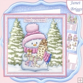 FROSTY SNOWMAN 7.5 Christmas Decoupage & Insert Mini Kit