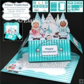 Winter Wonderland - 3D Box Card Kit & Matching Envelope