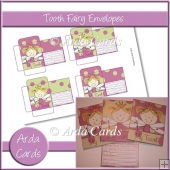 Green & Purple Girl Tooth Fairy Envelopes