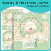 Especially For You Christmas Bear Cardfront with Decoupage