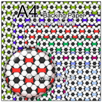 Set of 6 Football Backing Papers