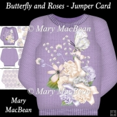 Butterfly and Roses - Jumper Card