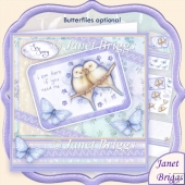 I'm Here If You Need Me 8x8 Sympathy Decoupage & Insert Kit