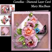 Camellias - Diamond Layer Card