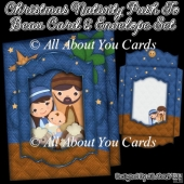 Christmas Nativity Push To Beau Card & Envelope