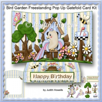 Bird Garden Freestanding Pop Up Gatefold Card Kit