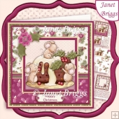 Christmas Holly Pudding 7x7 Decoupage & Insert Kit