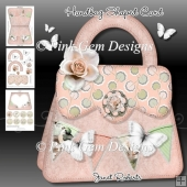 Peach Butterfly Shaped Handbag Card