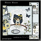 Cardtopper Kit Hoot Hoot blue