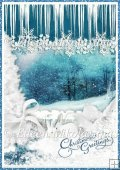 Curtain of Snowflakes Backing Background Paper