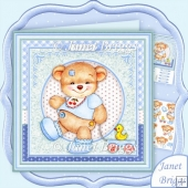 Baby Boy Bear & Duck 8x8 Decoupage Kit