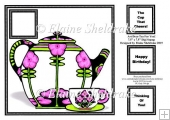 "Art Deco Tea For You (2) - 7.5"" x 7.5"" Card Topper"