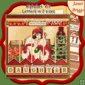 CHRISTMAS ART DECO LADY 7.5 Quick Card Kit Create Any Name