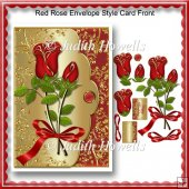 Red Rose Envelope Style Card Front