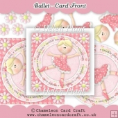 Ballet Card Front & Decoupage