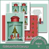 A6 Christmas Candle Pyramage Card