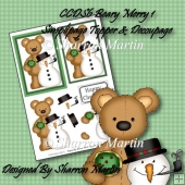 CCDS6 BEARY MERRY SIMPLIPAGE TOPPER & DECOUPAGE