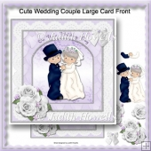 Cute Wedding Couple Large Card Front