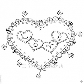 Love Loveheart Digital Stamp - Commercial and Personal Use