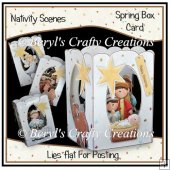 Spring Box Card - Nativity