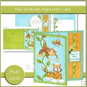 Wild Birthday Asymmetric Card