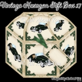 Vintage Car Hexagon Gift Box 17