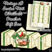 Vintage Santas Visit Christmas Cracker Gift Box