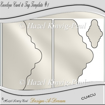 Envelope Card & Tag Template #1