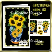 Clarice Sunflowers Decoupage Card Design