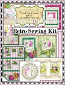 Retro Chic Sewing Journal Kit - 36 Printable Pages