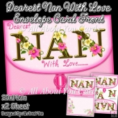 Dearest Nan With Love Envelope Card Front