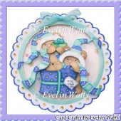 Teddys Christmas Gift Plate Card Kit