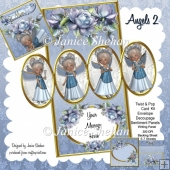 Angels Birthday 3D Twist and Pop Card Kit