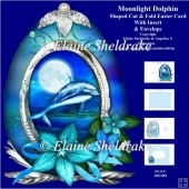 Moonlight Dolphin - Shaped Cut & Fold Card Kit