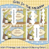 Girl In The Meadow Wavy Pyramage Side Stacker
