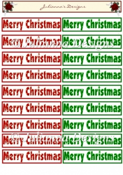 Merry Christmas Sentiments Topper Sheet