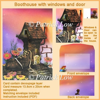 Boot House with Windows and Door