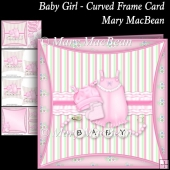Baby Girl - Curved Frame Card