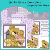 Garden Bear 3 Bonus Pack Decoupage