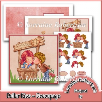 The Dollar Kiss ~ Decoupage