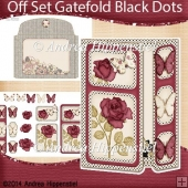 Off Set Gatefold Card Black Dots