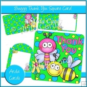 Buggy Thank You Square Card