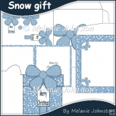 Snow Gift Christmas Card