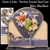 Cluster of Lilies - Teardrop Pyramid Easel Card