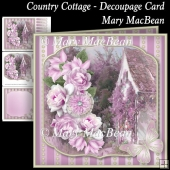 Country Cottage Decoupage Card