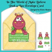 In The World of Make Believe Peek a Boo Envelope Card