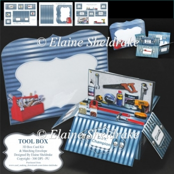 Tool Box - 3D Box Card Kit & Matching Envelope