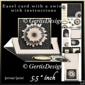 Easel Card With A Swing black