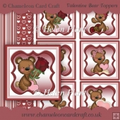 Valentine Bear Toppers & Backing Papers